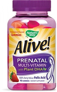 Nature's Way Alive! Prenatal Multivitamin with Plant DHA Gummies - 90ct