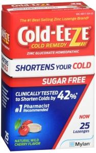 Cold-Eeze Sugar Free Natural Lozenge, 25ct