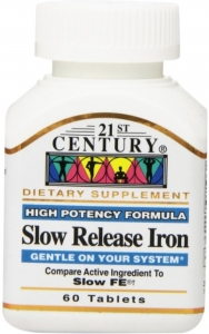21st Century Slow Release Iron Tablets, 60ct