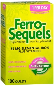 Ferro-Sequels High Potency Iron Supplement Caplets - 100ct