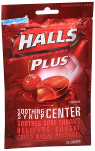 Halls Soothing Syrup Center (Halls Plus new packaging)- Cherry 25 Drops