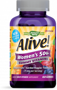 Alive! Women's 50+ Gummy Vitamins - 60ct