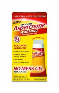 ASPERCREME WARMING NO-MESS GEL 2.5OZ