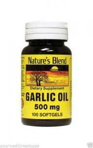 Nature's Blend Garlic Oil Softgels, 500mg- 100ct