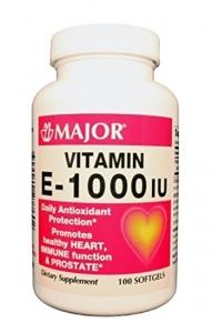 Major Vitamin E 1000 IU Softgels 100ct