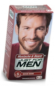 Just For Men Brush-In Moustache Beard & Sideburns Medium Brown Gel