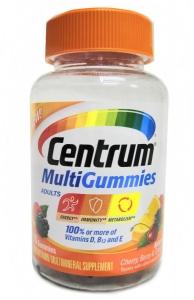 Centrum MultiGummies Multivitamin Gummies for Adults Natural Cherry, Berry & Orange - 70ct