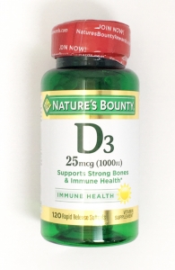 Natures Bounty Vitamin D 1000 IU Soft gel Tablets - 120