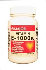 Major Vitamin E 1000 IU Softgels 30ct