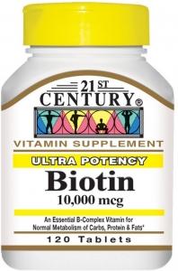21st Century Biotin Tablets, 10,000mcg, 120ct