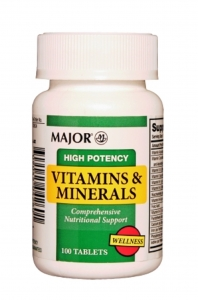 Major High Potency Vitamins & Minerals Tablets 100ct