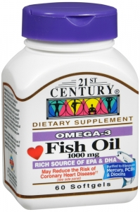 21st Century, Fish Oil 1000mg 60 Softgels