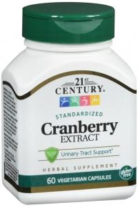 21st Century Standardized Cranberry Extract, Capsules, 60 vcaps