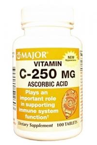 Major Vitamin C 250mg Tablets 100ct