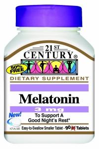 21st Century Melatonin 3mg Tablets, 90ct