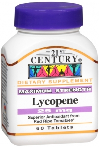 21st Century Lycopene 25mg, Maximum Strength, 60 tablets