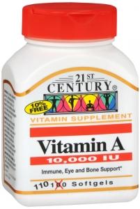 Vitamin A 3,000mcg (10,000 IU) 110 Softgels