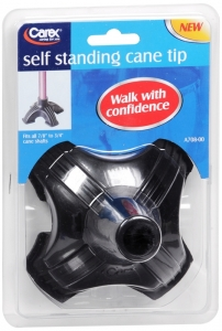 Carex Self Standing Cane Tip, Black