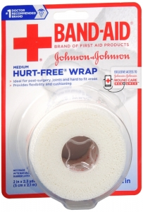 "J & J Band-Aid First Aid Hurt Free Wrap 2"" x 2.3 yds"