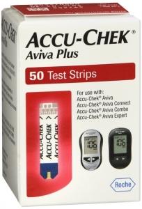 Accu-Chek Aviva Plus Diabetic Test Strips - 50 Strips