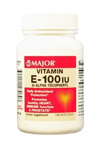 Major Vitamin E 100 IU Capsules