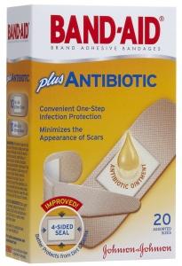 Band-Aid Plus Antibiotic Adhesive Bandages Assorted Sizes - 20ct
