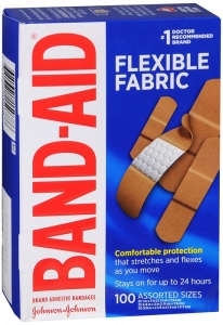 Band-Aid Brand Adhesive Bandages Flexible Fabric, Assorted 100 Count