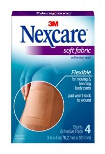 "Nexcare Soft Fabric Adhesive Gauze Pad 3""x4"", 4ct"