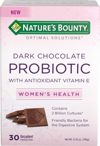 Nature's Bounty Optimal Solutions Probiotic Pieces, Dark Chocolate, 30ct