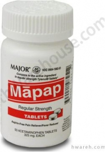 Mapap 325mg - 50 Tablets