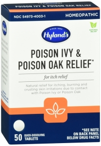 Hyland's Poison Ivy and Poison Oak Relief Tabs 50ct