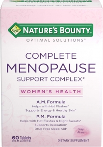 Nature's Bounty Complete Menopause Support Complex Dietary Supplement Tablets - 60ct