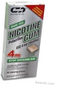 Nicotine Gum (4mg) Mint - 20 Pieces