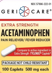 Geri-Care Extra Strength Acetaminophen 500mg - 100 Caplets