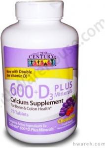 Calcium 600 + D Plus Minerals - 75 Chewables
