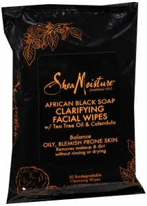 SheaMoisture African Black Facial Wipe 30 ct