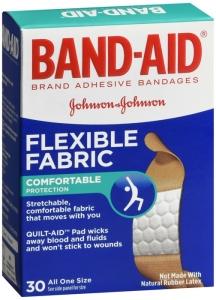 Band-Aid Flexible Fabric 3/4 inch x 3 inch 30 ct.