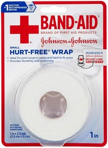 "J & J Band-Aid First Aid Hurt Free Wrap 1"" x 2.3 yds"