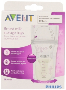 Philips AVENT 6-oz Breast Milk Storage Bags,  BPA-Free, 50 ct