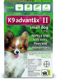 Advantix II K-9  (For Small Dogs, 10 lbs & Under) - 6 Pack (Green)