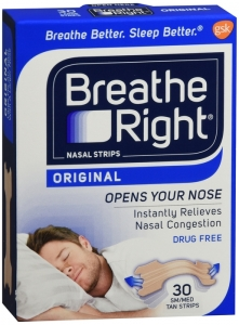 Breathe Right Nasal Strips,  Tan Large - 30 ct