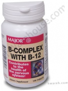 B-Complex with B-12 - 100 Tablets - DISCONTINUED by MANUFACTURER