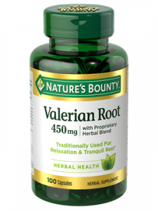 Natures Bounty Valerian Root 450mg 100 Capsules