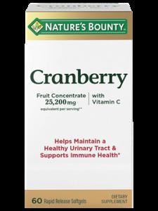 Nature's Bounty Cranberry Vitamin C Softgels, 60ct
