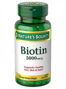 Nature's Bounty, Super Potency Biotin, 5000mcg Softgels, 150ct