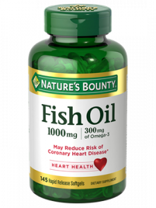 Nature's Bounty Fish Oil 1000mg Rapid Release Liquid Softgels 145ct