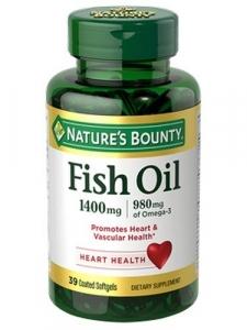 Nature's Bounty Fish Oil 1400mg Softgels, 39ct