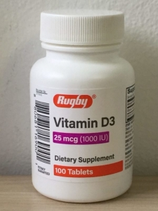 Rugby Vitamin D 25mcg (1000 IU) Tablets 100ct