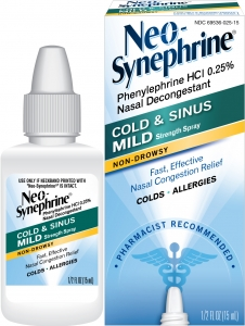 natrabio cold sinus nasal spray 0 8 fl oz liquid neo synephrine cold amp sinus mild strength 0 25 nasal 665