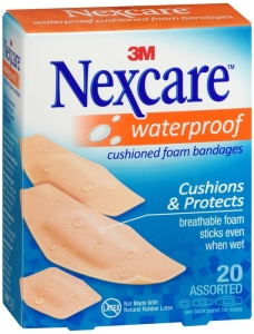 Nexcare Bandages Waterproof Cushion Assorted Sizes - 20ct